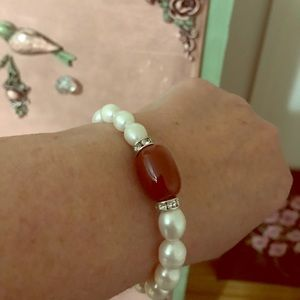 Jewelry - white south sea pearl and gemstone bracelet